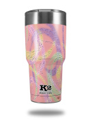 Skin Decal Wrap for K2 Element Tumbler 890ml - Neon Swoosh on Pink (TUMBLER NOT INCLUDED) by WraptorSkinz