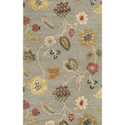 Jaipur Living Garden Party Hand-Tufted Floral & Leaves Blue Area Rug