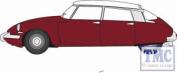 76cds004 Oxford Diecast 1:76 Scale Oo Gauge Citroen Ds19 Regal Red/white
