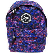 Hype Backpack / Blue And Red Swirl Bag - Paint Swirls V2