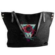 Women's Abstract Triangles Canvas Crossbody Shoulder Bag
