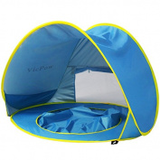 Pop Up Baby Beach Tent,VicPow Portable Infant Sun Shelter Play Beach Tent with Kiddie Pool,UV Protection