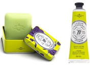 La Chatelaine Shea Butter Lemon Verbena Hand Cream + French Soap in a Tin Set, Moisturising, Nourishing, Made in France, Travel Size Hand Lotion 30ml, Natural Triple Milled Bar