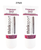 Thinksport Everyday Face Sunscreen, Naturally Tinted, Currant, 60ml