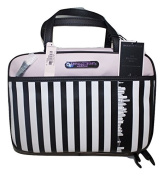 Victoria Secret Striped Cosmetic Make Up Bag Beauty Travel Pouch, Organiser New York Exclusive Striped Limited Editon