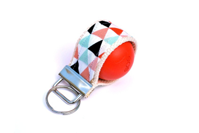 LippyLoop EOS Lip Balm Holder (Coral Mint and Gold Triangle)