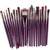 Susenstone 20 pcs Makeup Brush Set tools Make-up Toiletry Kit Wool Make Up Brush Set (Purple) by SusenstoneÂ