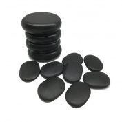 Lifetop 12pcs /lot Massage Stones Massage Lava Natural Stone Set Hot Spa Rock Basalt Stone