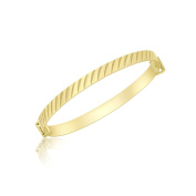 Carissima Gold 9 ct Yellow Gold Diamond Cut Oblique Extendable Baby Bangle