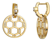 Pierre Cardin Women's Earrings Nid d 'abeilles Stainless Steel and White Brilliant Cut – PCCO10005B000