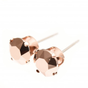 Rose Gold stud earrings expertly made with sparkling Rose Gold crystal from ®.