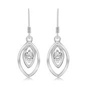 Tuscany Silver Sterling Silver Cubic Zirconia Fancy Drop Earrings
