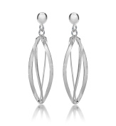 Tuscany Silver Sterling Silver Open Cage Drop Earrings