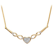 Revoni - 9ct Yellow Gold Diamond Necklace
