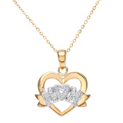 Revoni - 9ct Yellow Gold Diamond Mum Necklace, 46cm Length