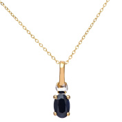 Revoni - 9ct Yellow and white Gold Sapphire Necklace, Trace Chain