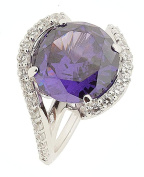 Pierre Cardin Women's Ring Saint Ambroise 925 silver cubic zirconia purple diamond cut PCRG90427E180 Size 57