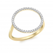 Carissima Gold 9 ct Yellow Gold 0.20 ct Diamond Circle Ring - Size P