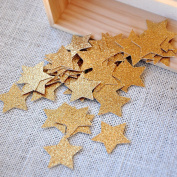 Glitter Gold Star Confetti. Birthday Party Decorations. Premium No Shed Glitter Paper Stars. Twinkle Twinkle Little Star. 2 Packs