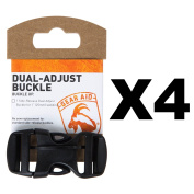 Gear Aid Dual-Adjust Buckle Kit For 2.5cm Webbing No-Sew Replacement