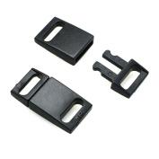 "25pcs 3/8""(10mm) Plastic Safty Breakaway Buckles Black For Bra Cat Collar Paracord Webbing Garment Accessories"