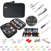 BETENSE Professional Sewing Kit for Home, Travel, Beginners & Emergency,Over 24 Bigger Spools of Thread & 20 multicolor sewing clip,Scissors, Needles,Tape Measure,Thimble and Carrying Case