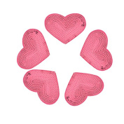 Yalulu 10Pcs Iron On Patches Badges Pink Heart Appliques Sequin Patches For Clothing Trousers Bags Stickers Sewing Accessories