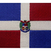 Dominican Republic Flag Embroidered Emblem Caribbean Iron On Sew On National Patch