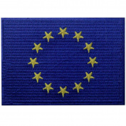 European Union Flag Embroidered Emblem EU Europe Iron On Sew On International Patch