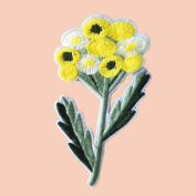 3 Pcs DIY Sewing Dandelion Embroidered Iron on Applique Patches