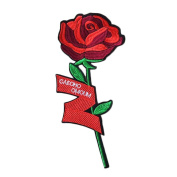 3 Pcs DIY Sewing Single Rose Embroidered Iron on Applique Patches