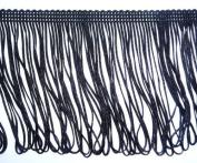 FQTANJU Chainette Black Fringe Trim By 5 Yard