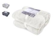 DecoKing Deluxe Microfibre Fleece Super Soft Touch Snug Blanket / Sofa Bed Throw Ecru Cream Off-White 70x150 cm Mic