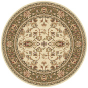 Universal Rugs Traditional Oriental 2.1m Round Area Rug , Beige