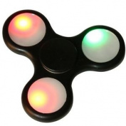 Black Led Flashing Hand Spinner Fidget Finger Toy Adhd Stress Relief