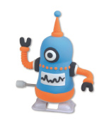 Make Your Own Dough Robot - 3d Moving Craft Toy Blue Wind Up 3 Too Collect 9000a