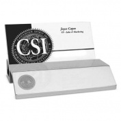 Michigan State Silver Business Card Holder