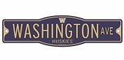Washington Huskies 10cm x 43cm Street Sign NCAA