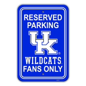 NCAA Kentucky Wildcats Plastic Parking Sign plastic Sign, Blue, one size
