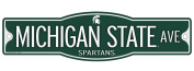 Michigan State Spartans 10cm x 43cm Street Sign NCAA