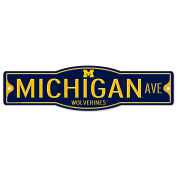 Michigan Wolverines 10cm x 43cm Street Sign NCAA