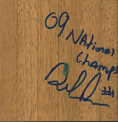 Delvon Roe Signed Floorboard Michigan State w/ Champs Inscription - Autographed College Floorboards
