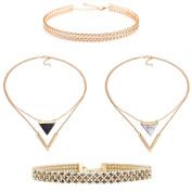 Tpocean 3PCS New fashion Natural stone Women Clavicle Chain Necklace Choker