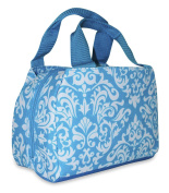 Ever Moda Insulated Lunch Bag, Teal Damask