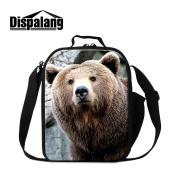 Dispalang Cute Bear Lunch Bag for Kids Children School Lunch Cooler Bag Meal Bags