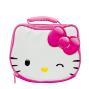 Hello Kitty Pink and White Wink Die Cut Insulated Lunch Kit