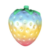 JUNKE Fruits Toys - Rainbow Strawberry Soft Kawaii Cute Slow Rising Cream Scented - for Kids Stress Relief Pressure Press