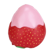 JUNKE Fruits Toys - Strawberry Soft Kawaii Cute Slow Rising Cream Scented - for Kids Stress Relief Pressure Press