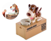 Ace Select Hungry Dog Piggy Bank Money Saving Box Eating Coin Munching Toy