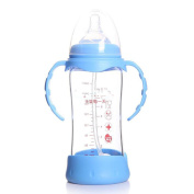 Glass Baby Bottle With Silicone Case 8 Ounces,A-240ml